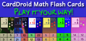 CardDroid Math Flash Cards: Play It Your Way